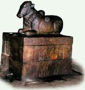 The nandi carved out of living rock, Malayadippatti