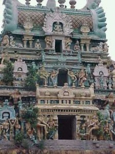 The temple gopuram, Peraiyur