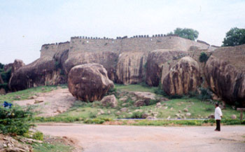 A view of Thirumayam Fort, Thirumayam