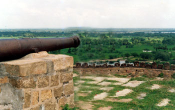 The canon at the top of the hill, Thirumayam